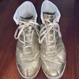Y-3 Metallic Gold Sneakers